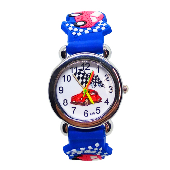 Leisure pentium silicone handsome cartoon baby watches Kids bracelet boy fashion car children electronic watch for kid gift image