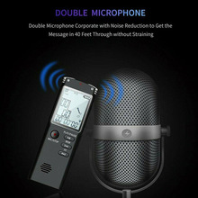 Digital Audio USB Dictaphone Voice Recorder Recording Device Long Working Time For Lecture Students Interview Business Travel