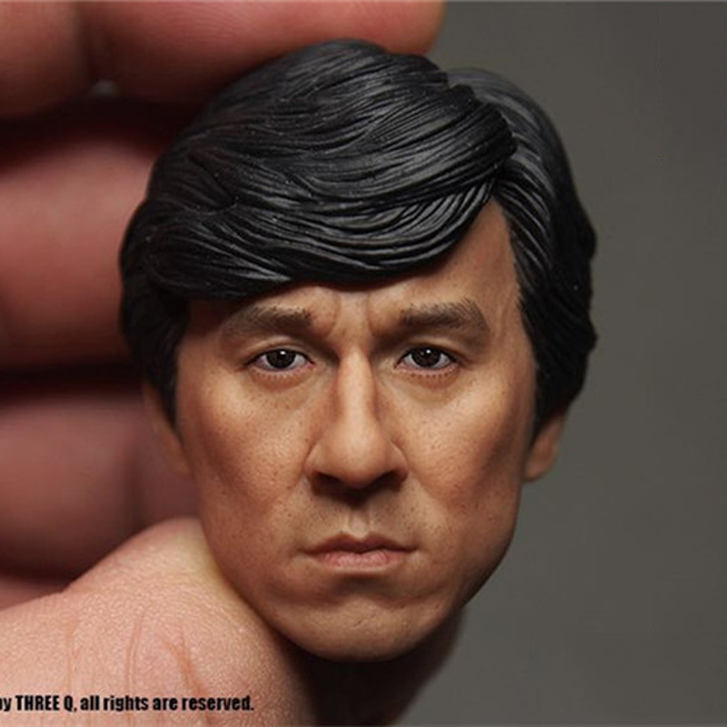 "1//6 Scale Kong Fu Jackie Chan Head Sculpt Headplay For 12/"" Male action Figure A"