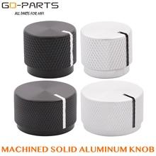 20x17mm 30x18mm Machined Solid Aluminum Volume Pointer Knob Potentiometer Cap Button 6mm Hole Hifi Audio AMP DIY Black Silver