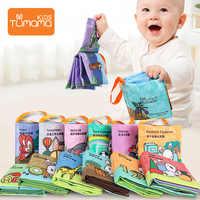Tumama 12 pçs brinquedos do bebê livros de pano número letra infantil educacional carrinho chocalho brinquedo recém-nascido berço cama brinquedos do bebê 0-36 meses