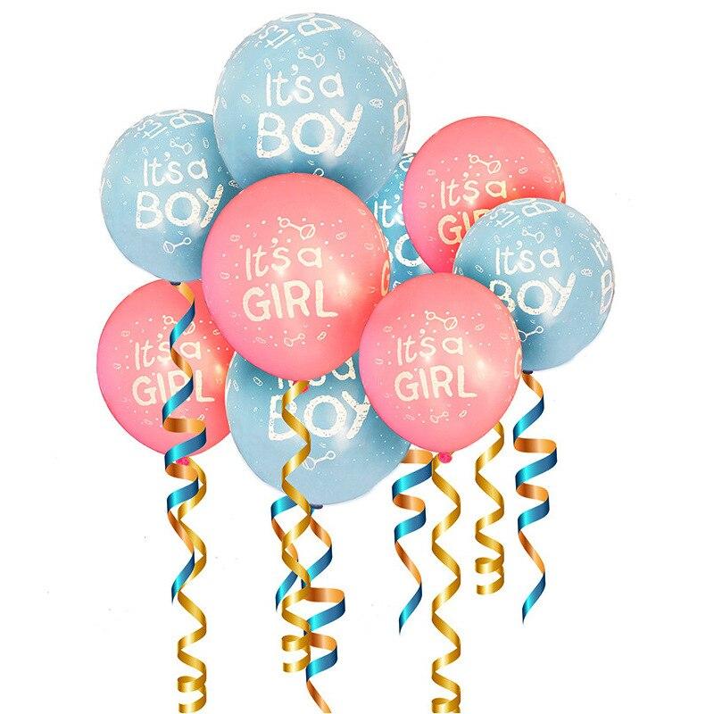10 piezas es un niño//niña Globos De Látex Para Baby Shower Fiesta Decoración Globos