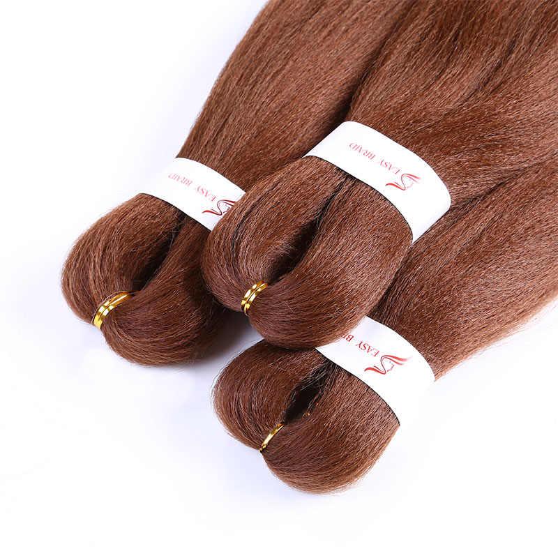 Werd 26 Polegada natural trança de cabelo marrom alta temperatura sintético trança cabelo crochê cabelo extensão peruca do cabelo