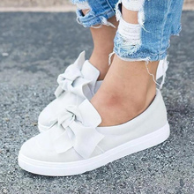 Women's Shoes White Sneakers Woman Butterfly-knot W