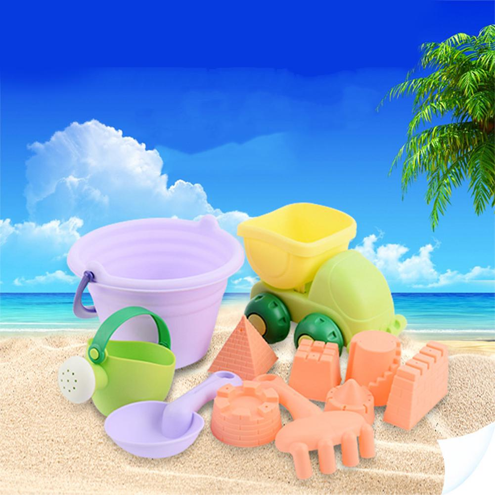 None Summer Beach Sand Water Play Toys Set Kids Dredging Tools