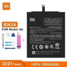 Оригинальный аккумулятор Xiao Mi BN34 3000 мАч для Xiaomi Redmi 5A 5,0 дюйма, высококачественные сменные батареи для телефона