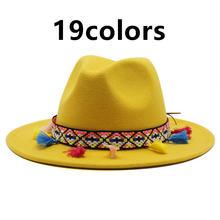 Шляпы для женщин разноцветные в западном стиле с пряжкой широкими