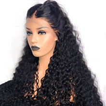 Brazilian Deep Curly 250% Density Virgin Lace Front Human Hair Wigs For Black Women Full Lace Pre Plucked Curly Hair Wig BIB(China)