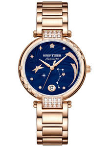 Fashion Watches Galaxy Tiger/rt Bracelet Women Automatic Ladies Luxury for Rose-Gold