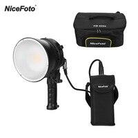 Nicefoto HB 600B handheld led luz de vídeo fotografia fill in lâmpada 5500 k brilho ajustável 60 w app controle remoto|Iluminação fotográfica| |  -