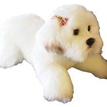 Fancytrader Kawaii мягкая имитация Мальтийская болонка плюшевые игрушки милые животные свадебный подарок, украшение реквизит для фотосъемки 38x14x15 см