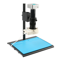 36MP 1080P Electronic Digital Industrial Video Microscope Camera TF Video Records 300X 180X Lens For Lab Production Processing