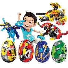 Bola giratoria increíble para niños, juguete de bloques de batalla de los caballeros del coche fantasma, Batalla, monstruo, Carbot, huevos deformables
