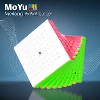 MoYu Meilong 9x9x9 Magic Speed Cube Cubing Classroom MF9 Cubes Stickerless Professional Puzzle Cubo Magico 9x9 Educational Toys