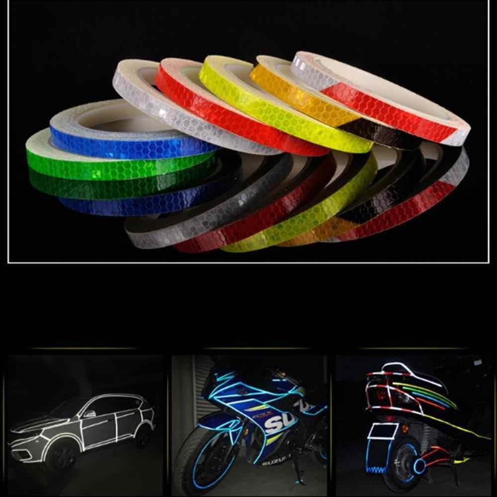 8m Wheel Reflective Sticker Rim Warning Safety Bike Motocycle Car Reflector Trim