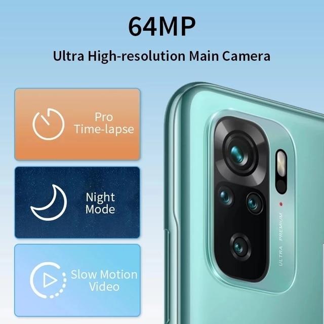 Global Version Xiaomi Redmi Note 10S 6GB 64GB/128GB Smartphone 10 S 64MP Quad Camera Helio G95 AMOLED DotDisplay 33W 5000mAh 3