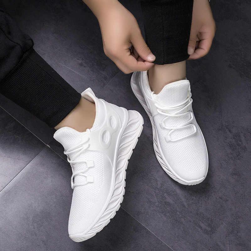 2020 Mới Nam Lạc-Lên Nam Giày Nhẹ Thoải Mái Thoáng Khí Cặp Đôi Đi Bộ Giày Feminino Zapatos