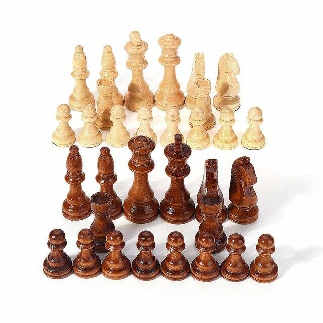 32 pièces, en bois, hauteur roi 105mm, jeu d'échecs de haute qualité 3