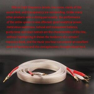Image 5 - Xangsane fever grade OCC posrebrzany kabel głośnikowy hifi micro space audio kabel wtyczka bananowa Y wtyczka wtyczka bananowa bananowa Y Y