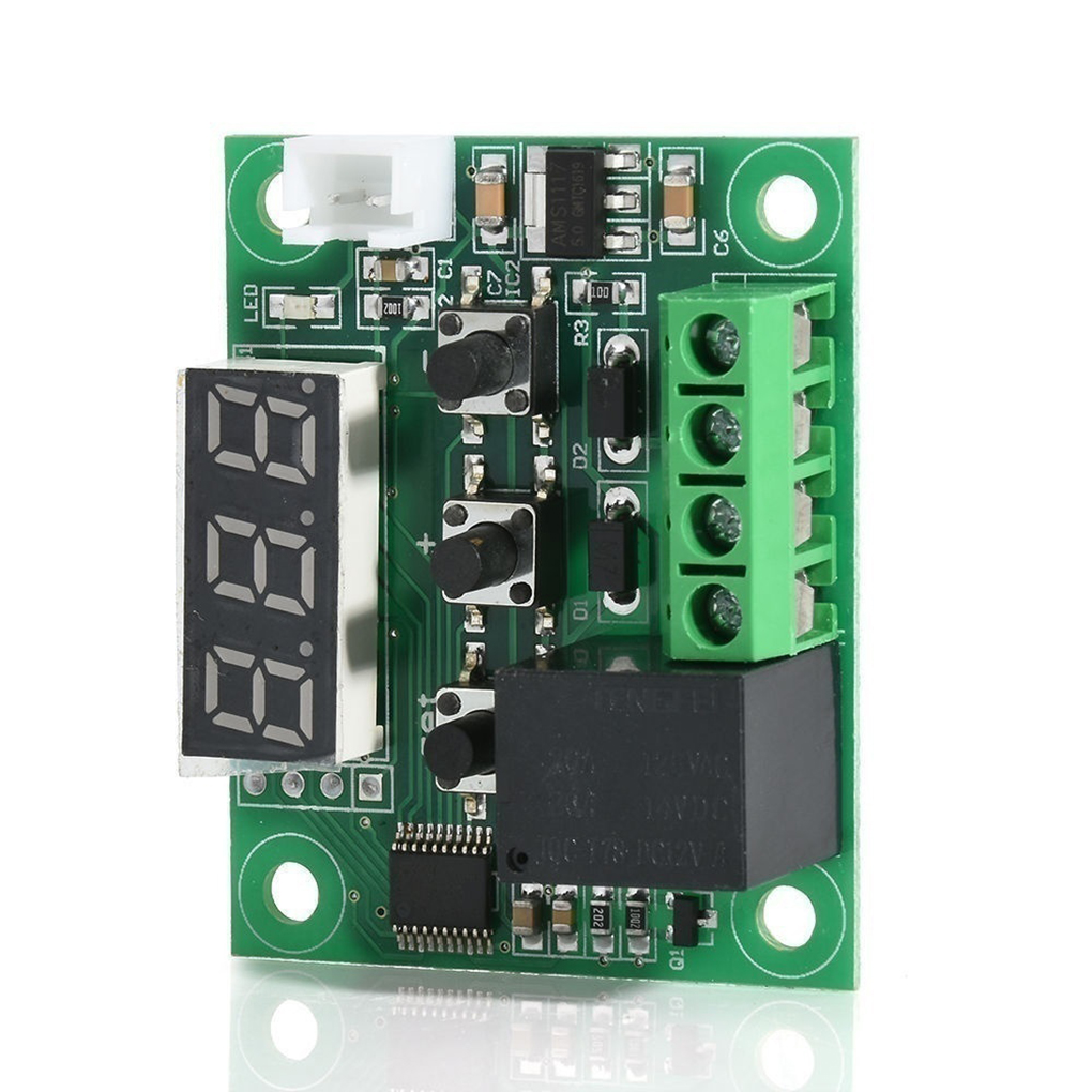 12 V Temperature Switch LCD Display Digital Temp Controller High Precision Waterproof Sensor 20A Relay