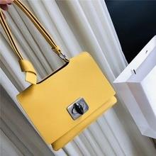 Luxury Pu Leather Women Handbags Fashion Lock Hasp Flap Bags Casual Solid Color Wrist Bag Ladies Ins High Quality Shoulder