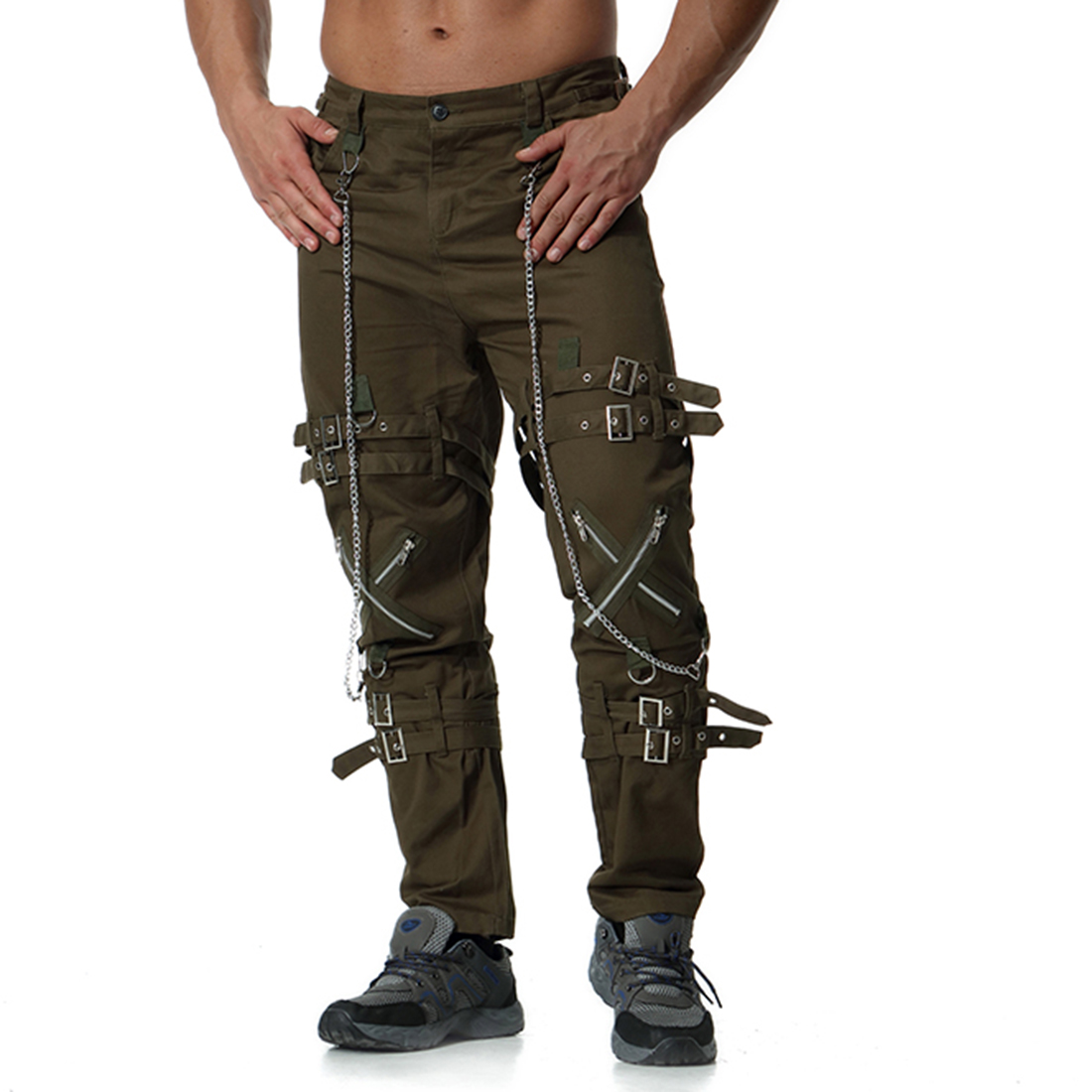 Pantalones para hombre, pantalones de chándal, pantalones de chándal, pantalones para hombre, hip hop, Camuflaje, pantalones tácticos de carga, Militar - 3