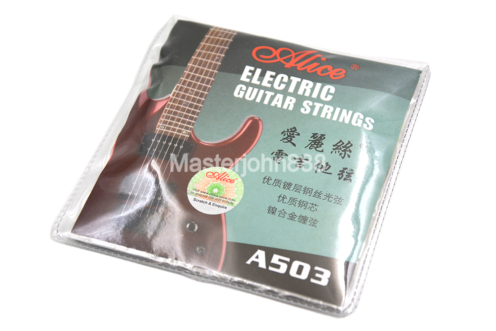 Alice A503-L/SL Electric Guitar Strings Plated Steel&Nickel Alloy Wound 1st-6th Strings Free Shippng