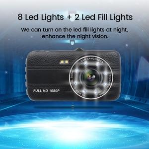 "Image 4 - 4.0""Dash Cam New Dual Lens Car DVR Camera Full HD 1080P  Front+Rear Camera Video Registrars G Sensor Night Vision Dash Cam"