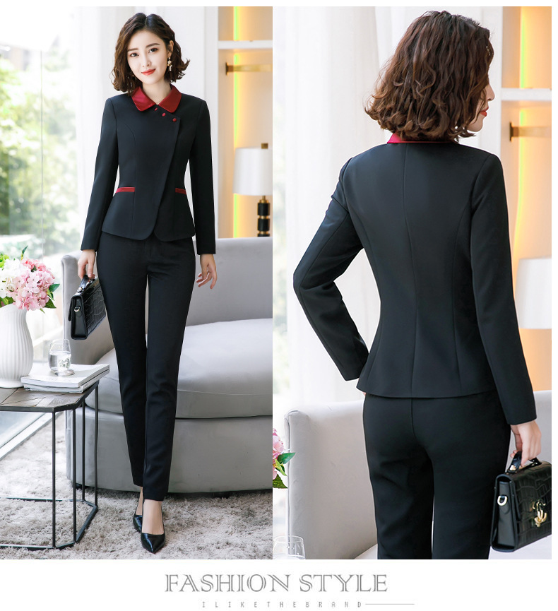 Blazer And Pants Set For Office Lady Female Slim Blazer And Skirts Suits Formal Work Suits For Women  Women 2 Piece Set