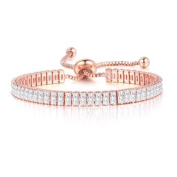 ZHOUYANG Kpop Women's Tennis Bracelet Luxury 2.5*5 mm Multicolor Zircon Bracelets For Women Wholesale Adjustable Jewelry DZH009 1