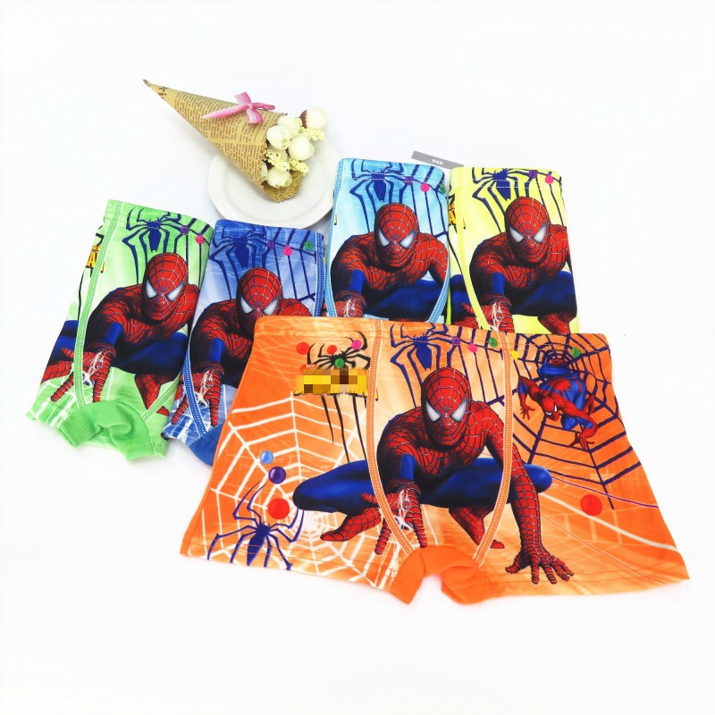 5pcs/lot Boys Cotton Panties Children Spiderman Briefs Kids Boys Clothes Panty Girls Panties Boxer Homme Teenagers Underwear