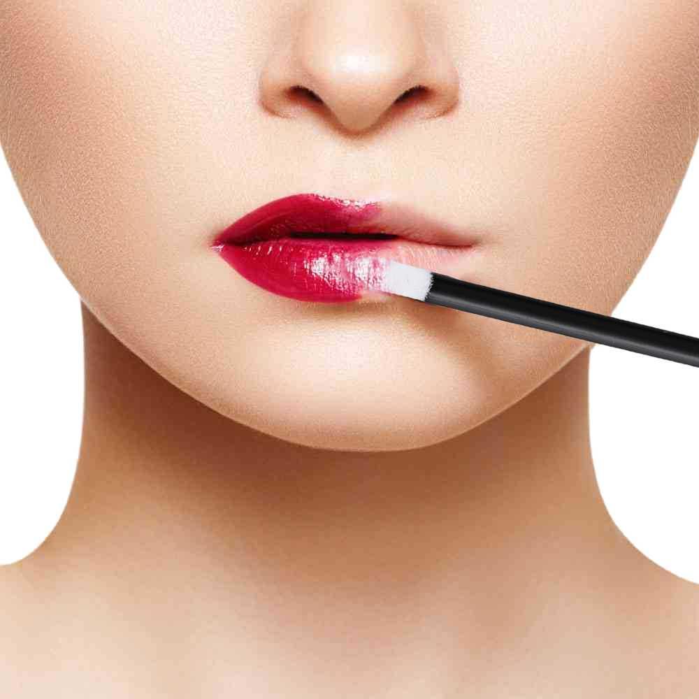 איפור מברשות עט ניקוי ריס מברשת שפתיים מברשת שפתון גלוס מסקרה שרביטים מוליך איפור כלי 100pcs שחור חד פעמי
