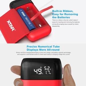 Image 4 - Зарядное устройство XTAR PB2S с USB, портативное зарядное устройство, вход Type C, быстрая зарядка QC3.0, 18700, 20700, 21700, зарядное устройство для аккумуляторов 18650