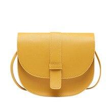 цена на 2020 Summer Korea Dongdaemun Summer Fashion Solid Color Shoulder Messenger Semicircle Saddle Lady Wild Bag