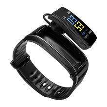 Y3 בתוספת אלחוטי Bluetooth אוזניות smart watch בריאות Tracker פדומטר כושר צמיד חכם צמיד Bluetooth אוזניות