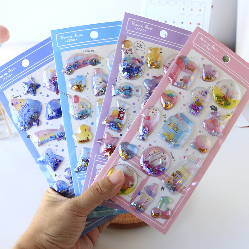 1pcs Kawaii Stationery Stickers 3D Sweet Fresh Travel Diary Planner Decorative Mobile Stickers Scrapbooking DIY Craft Stickers