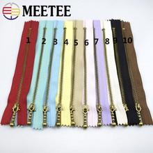 Sewing-Tools Clothing-Accessories Zipper-Hand Meetee Handmade Bronze Metal 10PCS DIY