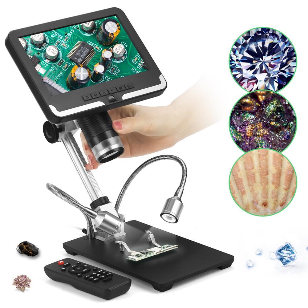 Andonstar AD206 7   FHD LCD 200X Digital Microscope 3D Effect Magnifier Tool for PCB Check CPU BGA Soldering Watch Phone Repair