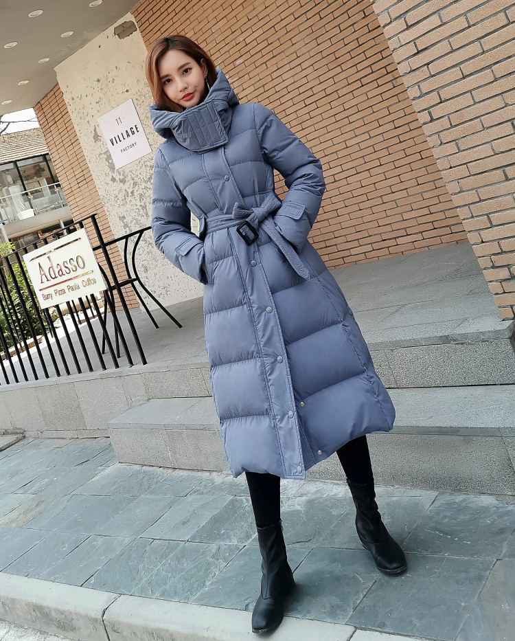 Winter Fashion new hooded jacket Thicken large size blue black White women's   down     coat