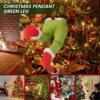 Christmas Decorations New Year Furry Green Arm Ornament Holder for The Christmas Tree for Christmas Home Party Sale