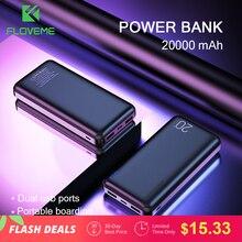 FLOVEME Power Bank 20000mAh Portable Charging Poverbank Mobile Phone External Battery Charger Powerbank 20000 mAh for Xiaomi Mi цена и фото