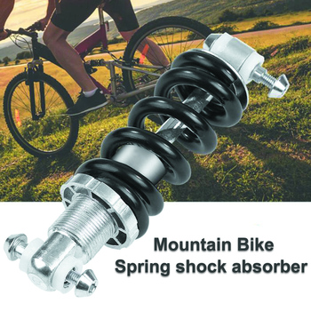 MTB Mountain Bike Metal Rear Suspension Bumper Spring Shock Absorber Bicycle Parts Rear Shock 125mm 450LBS image