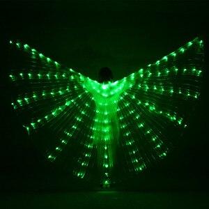 Image 5 - Múa Bụng LED Cánh Trẻ Em Hiệu Suất Huỳnh Quang Bướm Isis Cánh Múa Bụng Bellydance Carnival Led Trang Phục Cho Thấy