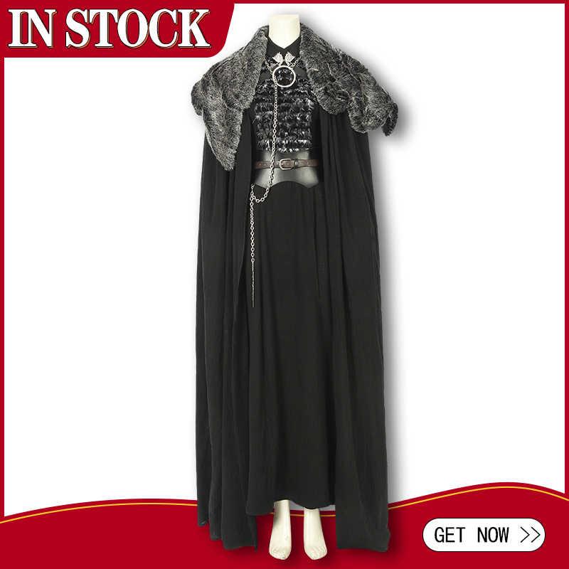 Dalam Saham Game Of Thrones Season 8 Kostum Sansa Stark Cosplay Kostum Jubah Alat Peraga Wanita Dewasa Pakaian Halloween Kustom membuat