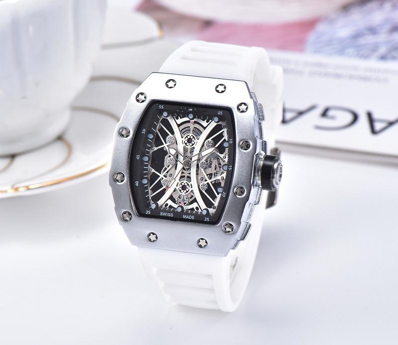 Top Brand  Silicone Man  Chronograph Mens Watches Luxury Top Brand Quartz Watch Blue Military Sports Wristwatch Relogios Clock