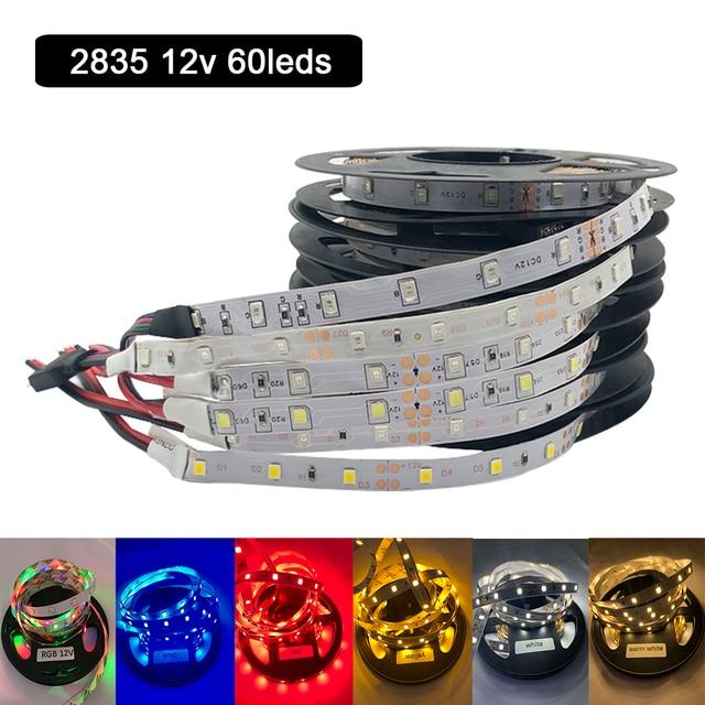 DC 12 V Volt Strip Led Light Tape 2835 RGB no Waterproof 12V DC 60LED/M RGB Led Strip Tape Lamp Diode Flexible TV Backlight