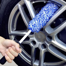 Auto Rim Scrubber Wheel Brush Cleaner Dust Remover Plastic Handle Motorcycle Truck Washing Vehicle Wash Tire Cleaning Tools