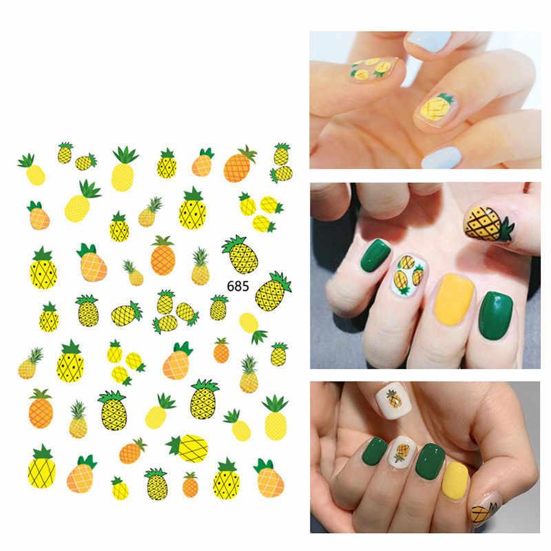 1 個かわいい爪のためのフルーツパイナップルスイカレモンパターンネイルステッカーネイルアートの装飾