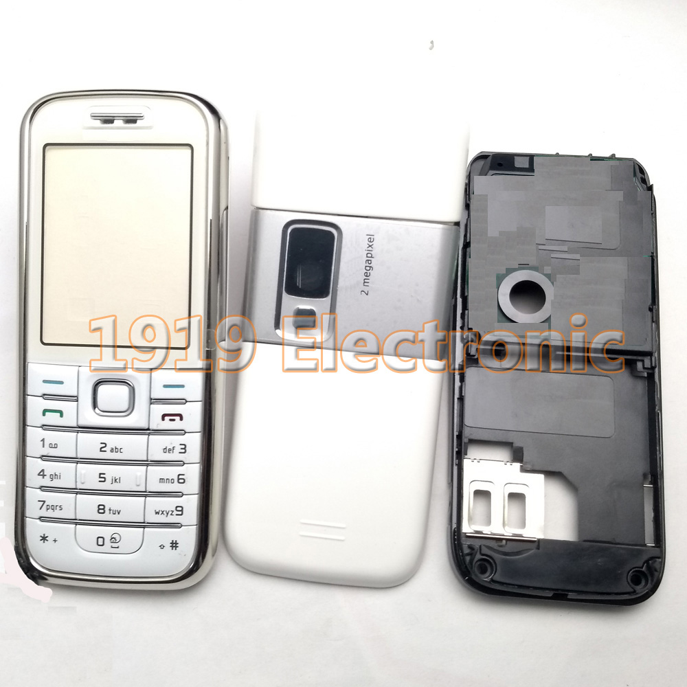 Case 6233--Tools Nokia Housing-Cover Mobile-Phone New White Full with English Or Russian-Keypad