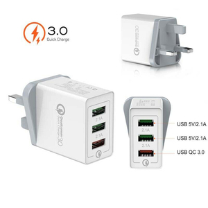 Quick Charge 3 Multi-Port USB QC 3.0 Quick Charge Hub Mains Wall Charger Adapter UK For Samsung iphone Xiaomi Mobile Phone
